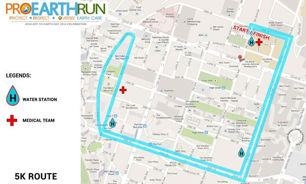 Pro Earth Run 5k Route