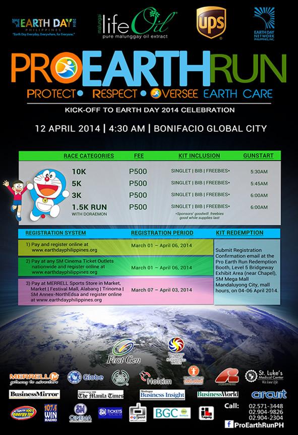 Pro Earth Run details