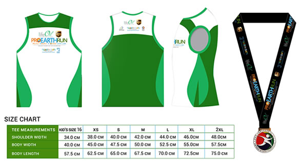 Pro Earth Run Singlet and Medal