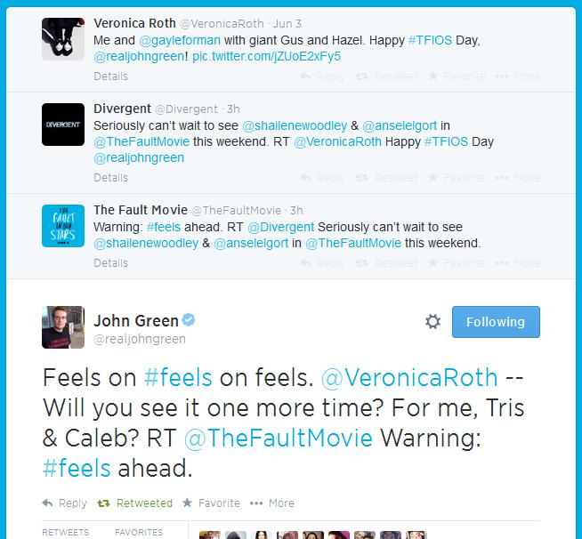 Screenshot from John Green's twitter account :)