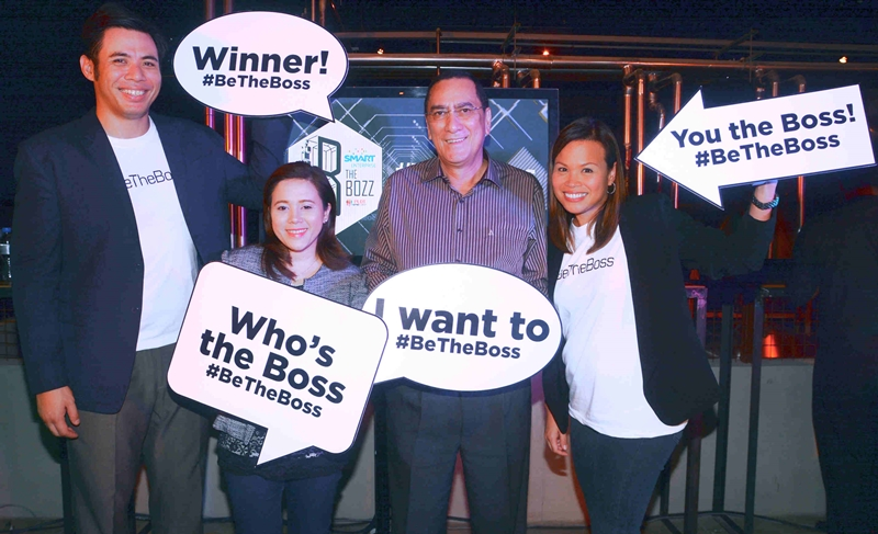 In photo are (from left): PLDT SME Community Engagement Services Head Gabby Cui, PLDT SME Wireless Marketing Head and AVP Nephele V. Denosta, PLDT FVP and Head of Enterprise, International and Carrier Business Revenue and Operations Group Cesar Enriquez and PLDT FVP and Head of SME Business Kat Luna-Abelarde.