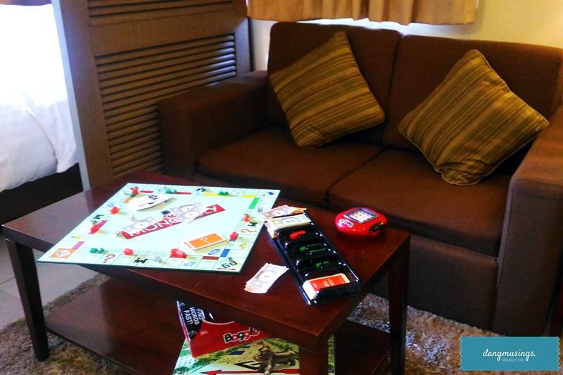 Convertible Sofa Bed and board games