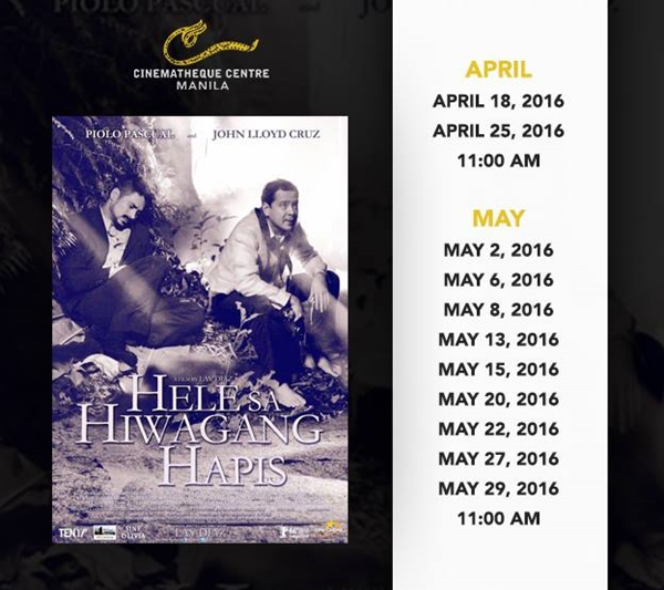 [Film] Catch 'Hele sa Hiwagang Hapis' at the Cinematheque this summer