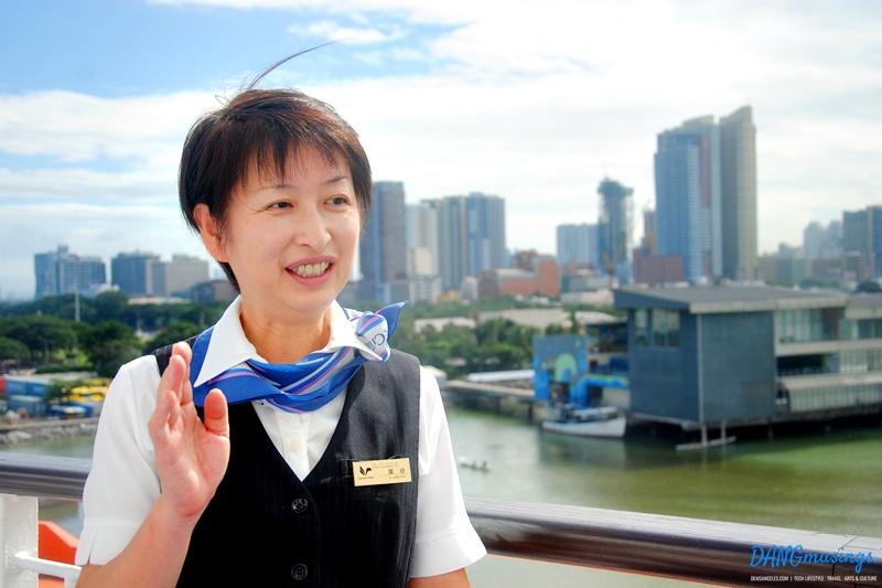 Thank you to the Cruise Coordinator Yukiko Hirota for accommodating us :)