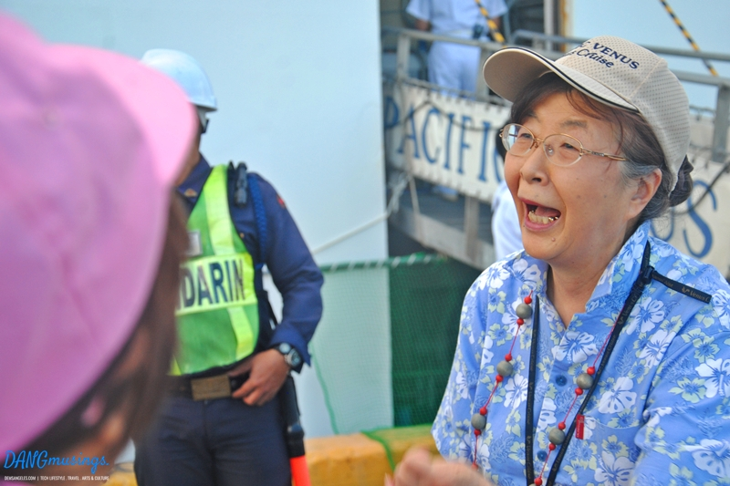 """Obaa-chan was very eager to interact with us, greeted us with """"magandang umaga"""" which she has learned on board the MV Pacific Venus."""