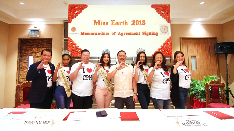 Century Park Hotel and Carousel Productions MOA Signing for Miss Earth Philippines 2018